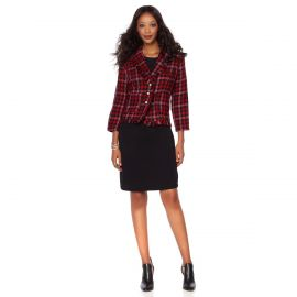 Boucle Jacket with Faux Pearl Buttons by Wendy Williams HSN Collection at HSN