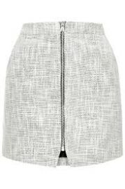 Boucle Zip Pelmet Skirt at Topshop