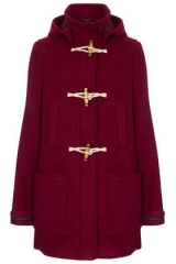 Bound Seam Duffle Coat at Topshop