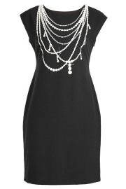 Boutique Moschino Pearl Print Jersey Dress at Stylebop