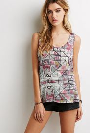 Bow-Back Abstract Print Top at Forever 21