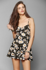 Bow Back Romper at Urban Outfitters