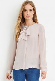 Bow-Front Blouse  Forever 21 - 2000158016 at Forever 21