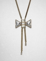 Bow Lariat necklace by Marc Jacobs at Saks Fifth Avenue