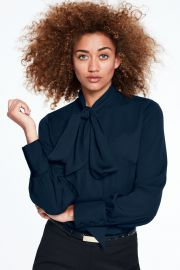 Bow tie blouse at Lands End