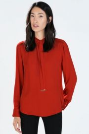 Bowed Blouse at Zara