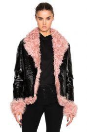 Bowery Coat with Lamb Fur by Sandy Liang at Forward