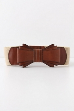 Bowtied luster belt at Anthropologie at Anthropologie