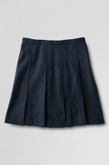 Box Pleated Skirt at Lands End