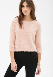 Boxy Fuzzy Knit  Sweater  Forever 21 - 2000081487 at Forever 21