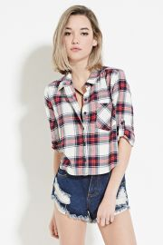 Boxy Plaid Shirt  Forever 21 - 2000170963 at Forever 21
