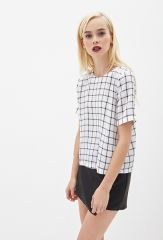 Boxy windowpane top at Forever 21