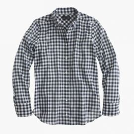 Boy shirt in crinkle gingham at J. Crew
