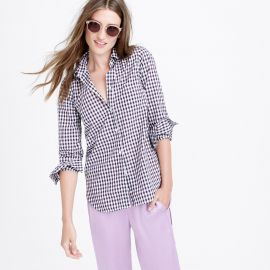 Boy shirt in mini gingham f at J. Crew