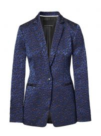 Boyfriend-Fit Leopard-Print Blazer by Banana Republic at Banana Republic