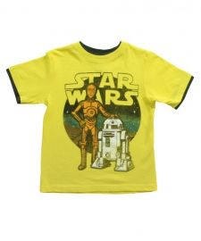 Boys Juvy Star Wars Yellow C3P0 R2D2 T-shirt at Shirts.com