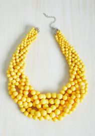 Braid to Love You Necklace in Sunflower at ModCloth