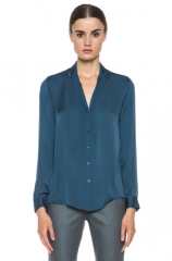 Brana Blouse in blue sea by Theyskens Theory at Forward by Elyse Walker
