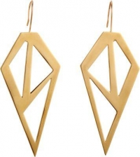 Brass Galactic Earrings by Jennifer Fisher at Barneys
