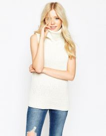 Brave Soul  Brave Soul Sleeveless High Neck Jumper at Asos