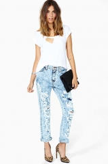 Breakup Shredded Jeans at Nasty Gal