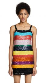 Bridget Striped Sequin Dress alice and olivia  at Shopbop
