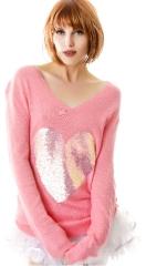 Brigettes heart vneck sweater at Dolls Kill