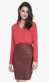 Bright Salmon Convertible Sleeve Portofino Shirt at Express