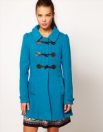 Bright blue toggle coat from ASOS at Asos