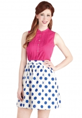 Bright on the Dot Skirt at ModCloth