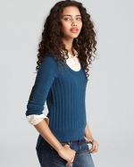 Blue sweater at Bloomingdales at Bloomingdales