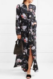 Britten floral-print silk crepe de chine maxi dress by Equipment at Net A Porter