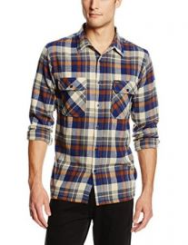Brixton Menand39s Archie Long Sleeve Flannel Shirt at Amazon