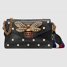 Broadway leather mini bag at Gucci