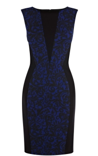 Brocade print dress at Karen Millen