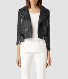 Brooklyn Leather biker Jacket at All Saints