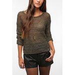 Brown Metallic Mesh Sweater from Urban Outfitters at Urban Outfitters