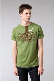 Brown Sound Fly Lower Tee at Urban Outfitters