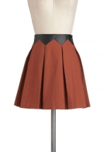 Brown and black leather skirt like Zoe Harts at Modcloth