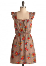 Brown floral dress at Modcloth at Modcloth