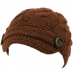 Brown knitted cap like Elenas at Amazon