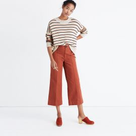 Brownstone sweater in stripe at Madewell