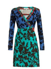 Brulon Foliage-print silk wrap dress at Matches