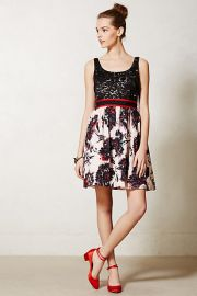 Brushstroke Blossoms Dress at Anthropologie