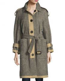 Burberry Oakville Reversible Tweed Coat x at Neiman Marcus