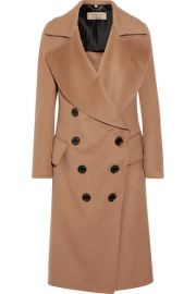 Burberry   Crewdale camel hair and wool-blend coat at Net A Porter