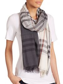 Burberry - Giant Check Ombrand232 Wool andamp Silk Scarf at Saks Fifth Avenue