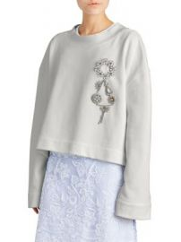 Burberry - Melange Brooch Sweatshirt at Saks Fifth Avenue
