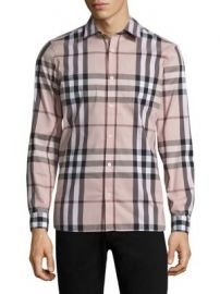 Burberry - Nelson Cotton Button-Down Shirt at Saks Fifth Avenue