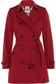 Burberry   The Kensington Mid cotton-gabardine trench coat at Net A Porter